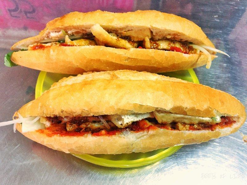 Vietnamese Vegetarian Food: Tofu Banh Mi