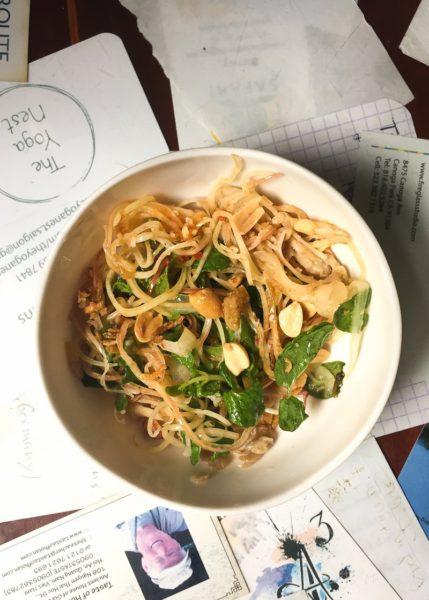 Vietnamese Vegetarian Food: Banana Flower Salad