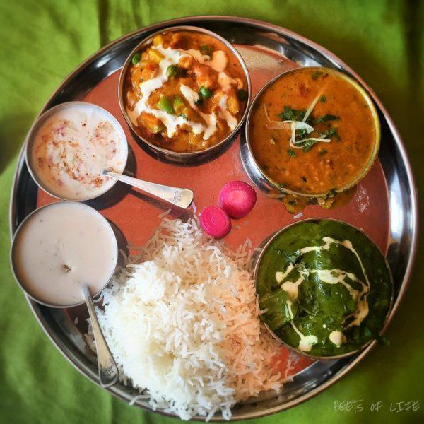 Indian vegetarian thali