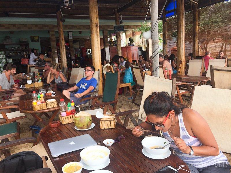 Vietnamese Vegetarian Food on the beach