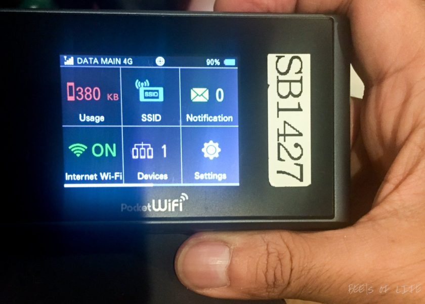 Travel tips for Japan: Get a mobile hotspot. Here is our mobile hotspot
