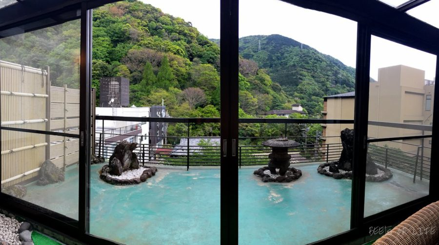 The balcony from our room at the Ryokan