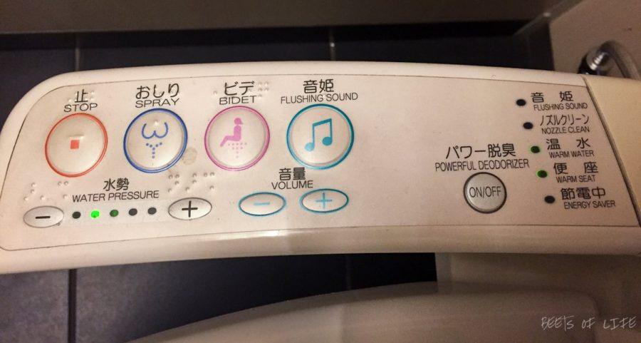 A console such as this, is pretty common in public restrooms