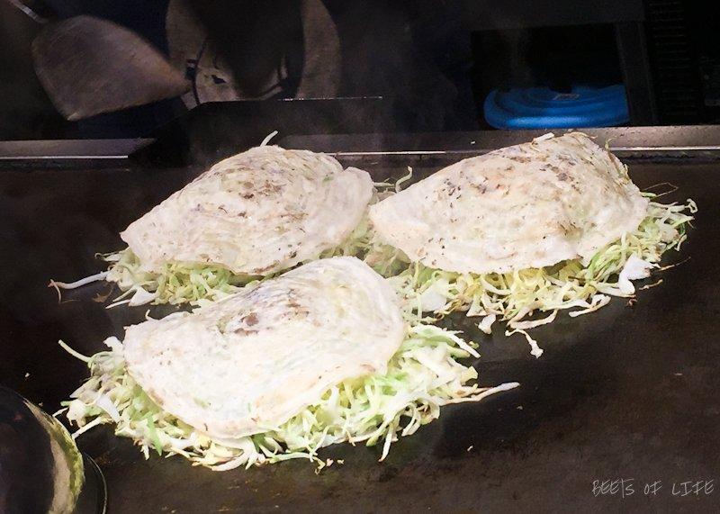 Okonomiyaki in the making!