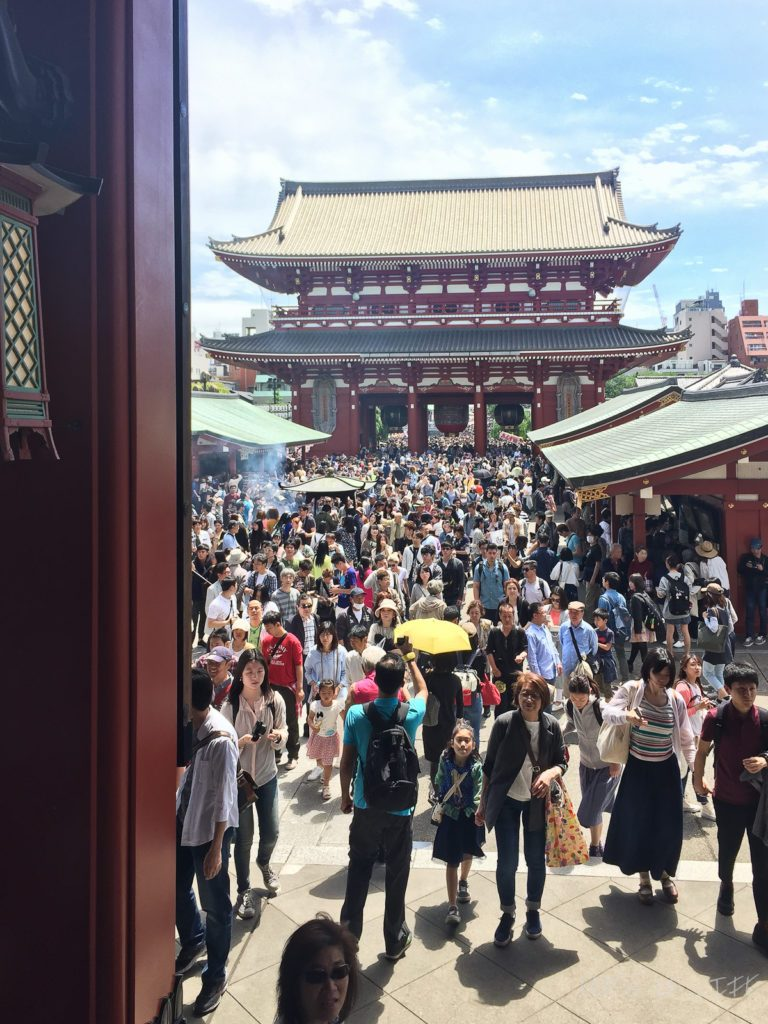 It's rush hour at the Sensoji Temple