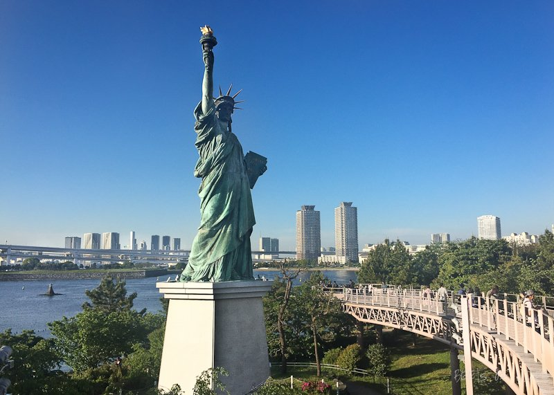 Statue of Liberty in Odaiba, Japan