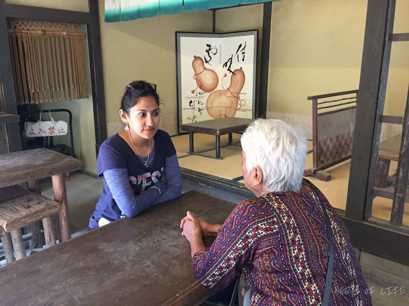 Mama Vora and Baby Vora in conversation at the park