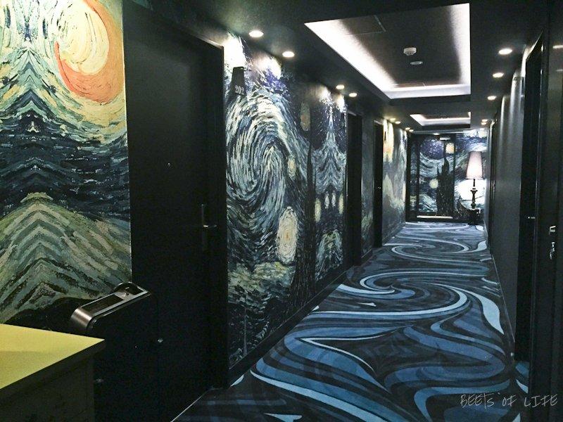 Our lovely Picasso inspired hotel floor in Akasaka