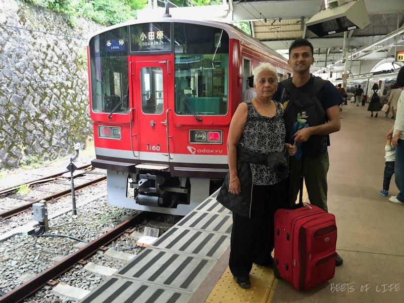 Taking the local train from Odawara to Hakone
