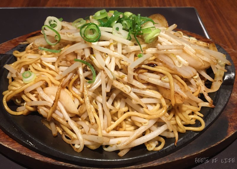 Noodles with bean sprouts